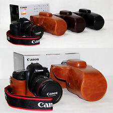 Leather Camera case bag for Canon EOS 6D 7D Digital SLR