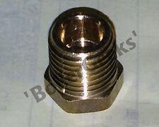 Brass Reducer 1/2 NPT(M) x 1/4 NPT(F)  reducer bushing gauge adapter