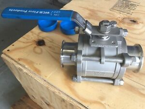 DN80 (3 inch) WCB SANITARY BALL VALVE WUTH TRI-CLOVER CONNECTIONS BARGAIN PRICE
