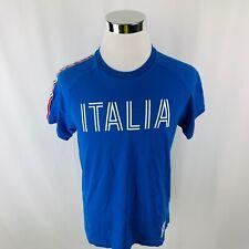 Vintage Champions Italia Federazione Basketball Blue T-Shirt Mens Xl X-Large