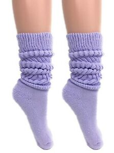 Slouch Socks Women and Men Extra Tall Heavy Socks 2 PAIRS Size 9-11