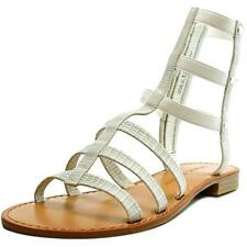 Calzado de mujer sandalias con tiras de color principal blanco Talla 38.5