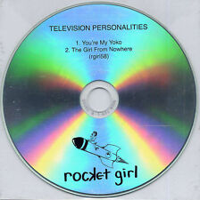 TELEVISION PERSONALITIES You're My Yoko 2010 UK 2-track promo test CD