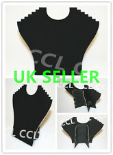 Black Velvet Necklace Pendant Jewellery Display Stand/Bust Show Case Holder
