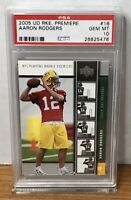 2005 AARON RODGERS GREEN BAY PACKERS UD ROOKIE PREMIERE #16 PSA 10 GEM MINT RC