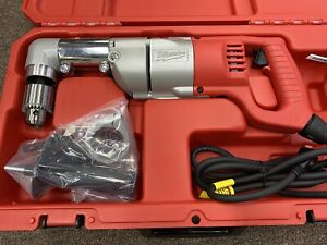 """NEW Milwaukee 3107-6 1/2"""" Right-Angle Drill Kit 7 Amp Corded w/Hard Case"""