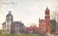 Angola Indiana~Two Great Towers @ Tri-State College~Postcard c1910