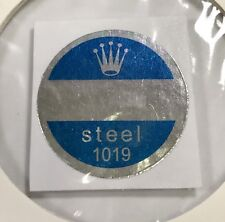 ROLEX 1019 Steel Caseback Blue Sticker Certificate 1960's Milgauss Anti-Magnetic