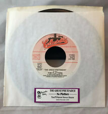 The Platters The Great Pretender You'll Never Know 45 Vinyl With Jukebox Strip