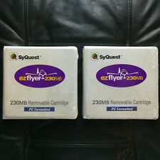 """SyQuest EzFlyer 230MB Removable 3.5"""" Cartridges PC Formatted - Factory Sealed"""
