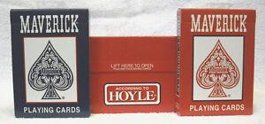 CARTON OF 12 HOYLE MAVERICK PLAYING CARDS  - NEW - SEALED          ZHOY-1205