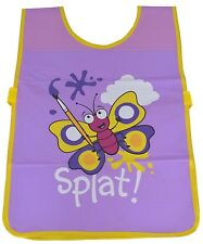 Bugzz Kids Butterfly Brush Tabard Childrens Childs Girls Painting Cooking Apron