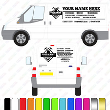 Builders Van Sign, Large Custom Vinyl Van Decal, Builders Van lettering