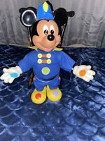 Vintage Walt Disney Mickey Mouse Doll 1990  colors hands/feet Body Squeaks Nice