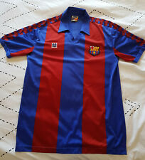 Vintage FC Barcelona football shirt from the 80s.