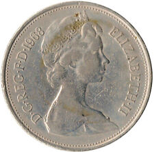 1968 LARGE 10P COIN / QUEEN ELIZABETH II. COLLECTIBLE COIN  #WT3958