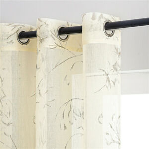 Sheer Curtains Decoration Modern Live Room Curtain Voile Sheer Scarf 2 Panels