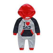 Newborn Tracksuit Baby Boy Girl Kids Cotton Bodysuit Romper Jumpsuit Clothes Set
