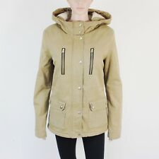 TopShop Womens Size 12 Light Brown Cotton Hooded Jacket