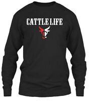 Cattle Life Gildan Long Sleeve Tee T-Shirt
