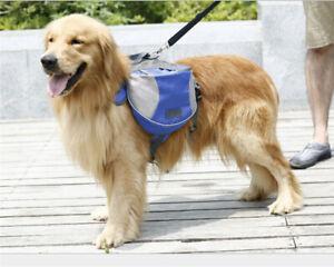 Pet Dog Adjustable Detachable Backpack Travel Camp Hiking Necessary Saddle Bag