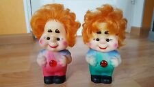Lot of 2 USSR Russian Soviet Rubber Toy Doll KARLSSON