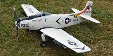 "1/8 Scale Douglas A-1H SKYRAIDER scratch build rc Plane Plans & Patterns 75""WS"