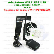 WIRELESS-N ADAPTER USB KINAMAX 150 ANTENNA AMPLIFICATA WIFI AMPLIFICATORE wi-fi