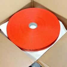 "Texband 1-1/2"" 480' Woven Orange Polyester Cord Strapping 05-08-0050, 4 Spulen"