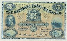 More details for p259d national bank of scotland 5 pounds 1944 b799-384 note in mint condition