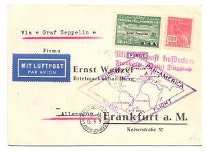BRAZIL 1930 CARD ZEPPELIN FLOWN TO GERMANY