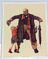 Big Moment by: Norman Rockwell. Lithograph. 1972 Curtis Publishing Company