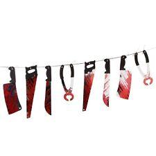 Cuchillo sangriento y herramientas Guirnalda. acción de gracias Decoración de Halloween 3m