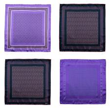 BRIONI Pink Purple Hand-Rolled 100% Silk Pocket Square Handkerchief Lot of 4