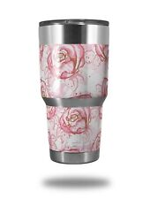 Skin for Yeti Rambler 30oz Flowers Pattern Roses 13 TUMBLER NOT INCLUDED