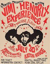 """Jimi Hendrix Baton 16"""" x 12"""" Photo Repro Concert Poster"""