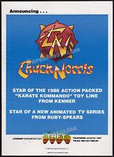 CHUCK NORRIS__KARATE KOMMANDOS__Original 1985 Trade AD promo / poster__KENNER_TV