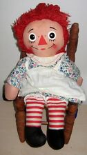 "Genuine Vintage Knickerbocker 15"" Raggedy Ann Doll 1950-60's I LOVE YOU Heart"