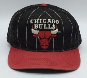 Vintage Starter Chicago Bulls NBA Snapback Hat Cap Baseball Stripe Jordan Era