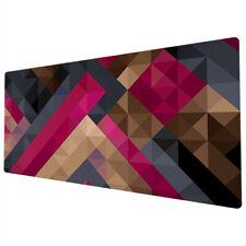 90x40cm Extra Large Xxl Mouse Mat Pad Full Desk Pc Pink Blue Geometric Uk