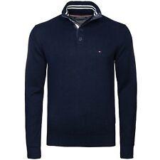 TOMMY HILFIGER Pullover Troyer dunkelblau navy 100% Baumwolle Gr. L *NEU+OVP*