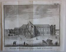 1743 CHIESA SAN PIETRO WESTMINSTER Abbey Salmon Albrizzi London Londra St Peter