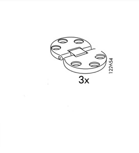 3 Ikea Fold Down Keyboard Hinges Part 122654 Fits Hemnes Bureau & Secretary desk