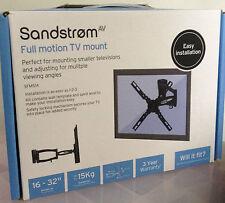 """SANDSTROM FULL MOTION TV MOUNT SFMS14 FOR 16-32"""" TV"""