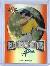 2017 Leaf Valiant Moon Shots Austin Beck Orange Prismatic RC Auto 20/25 A's