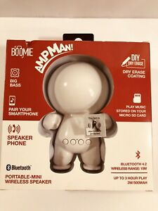 Wireless Bluetooth Speaker Portable BOOMIE AmpMan DIY Dry erase White NEW