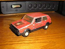 "Rare Nice Vintage 1/32 ? 5"" Tootsie Toy 1970's VW Volkswagen Diesel Rabbit Red"