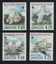 Greenland Birds WWF Snowy Owl 4v MNH SG#346-349 MI#331-334 SC#344-347