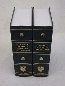 COMPACT OXFORD ENGLISH DICTIONARY and THESAURUS 3rd Edition 2005