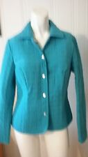 Women's Briggs New York Blue Lined Jacket Tag Size 4P Quilted Long Sleeve Snaps